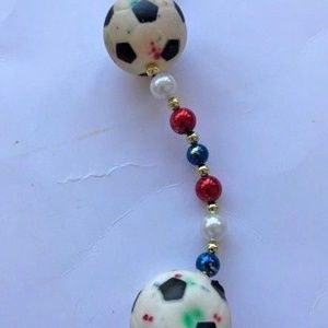 Soccer Balls Necklace St Patrick's Patriotic day